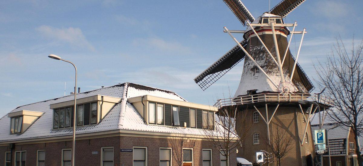 Korenmolen de Zwaluw Hoogeveen winter 2009